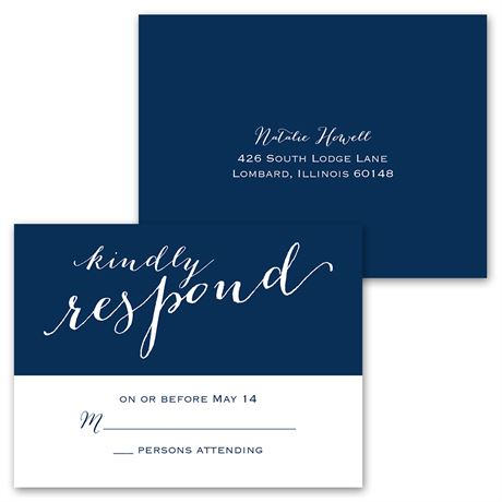 Keep it Simple - Invitation with Free Response Postcard