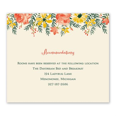 Watercolor Floral - Information Card