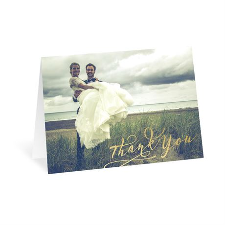 Glowing Gratitude Thank You Card