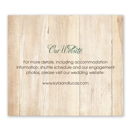 Rustic Appeal Information Card