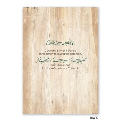 Rustic Appeal - Invitation with Free Response Postcard