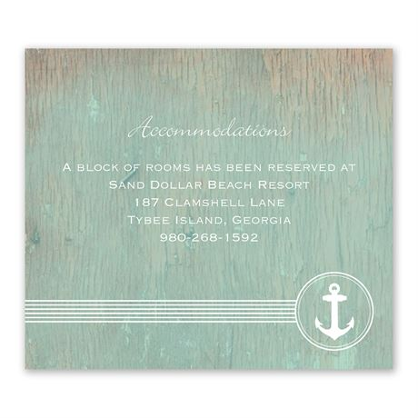 Anchored by Love - Information Card