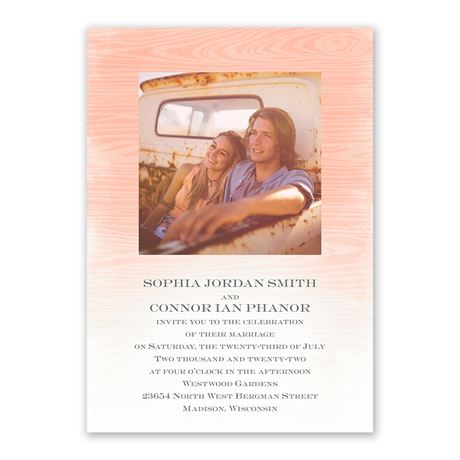 All Natural - Invitation with Free Response Postcard