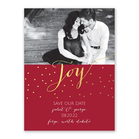 Joy to the Couple Holiday Card Save the Date