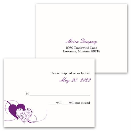 Close at Heart - Invitation with Free Response Card