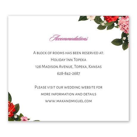 Boho Floral Information Card