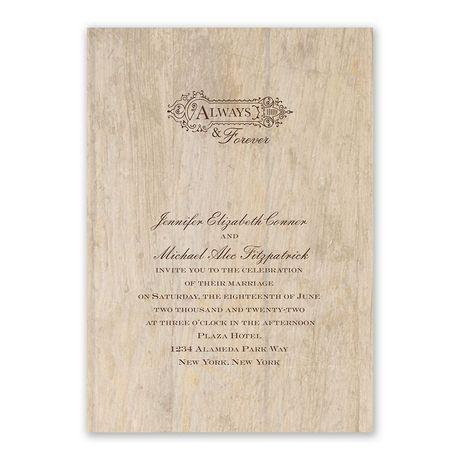 Woodgrain Beauty - Choose Your Design - Invitation with Free Response