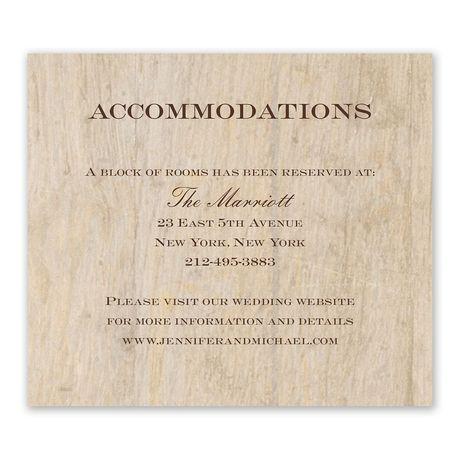 Woodgrain Beauty Information Card