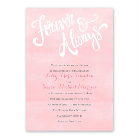 Forever Pink Watercolor Invitation Ann S Bridal Bargain