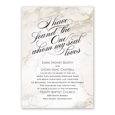 Whom My Soul Loves - Invitation with Free Response Postcard