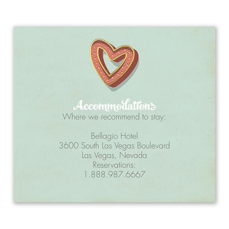 Vegas Wedding Information Card