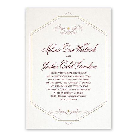 Modern Elegance - Invitation with Free Response Postcard