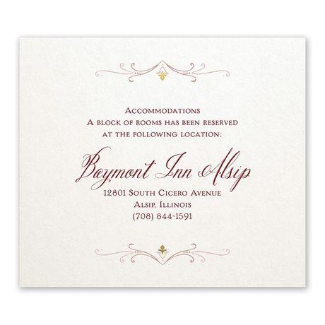 Modern Elegance - Information Card