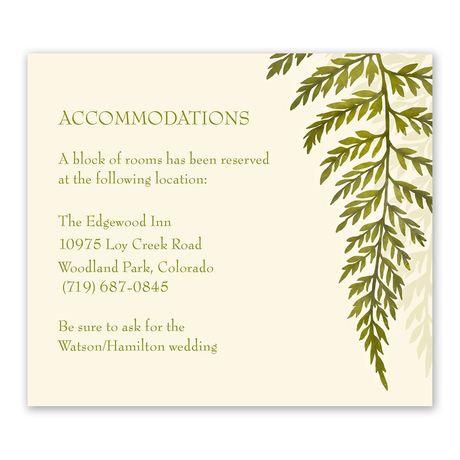Woodland Fern Information Card