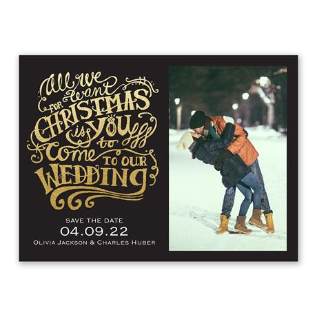 All We Want - Holiday Save the Date
