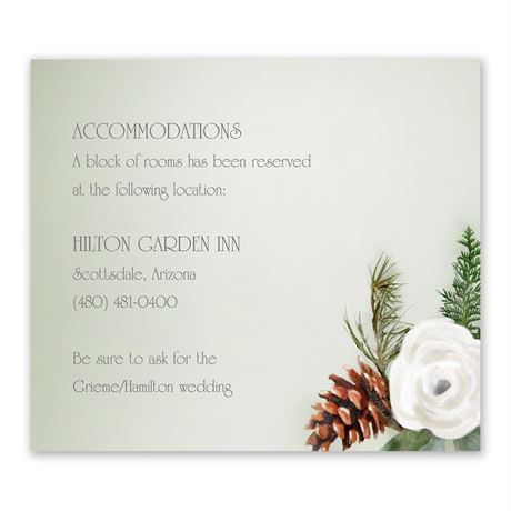 Winter Floral Information Card