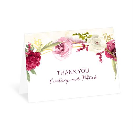 Geo Rose Thank You Card