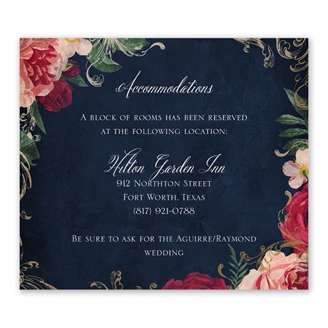 Florals and Flourishes - Information Card