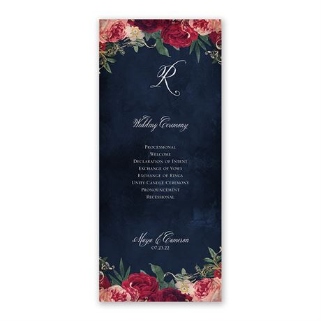 Florals and Flourishes - Wedding Program