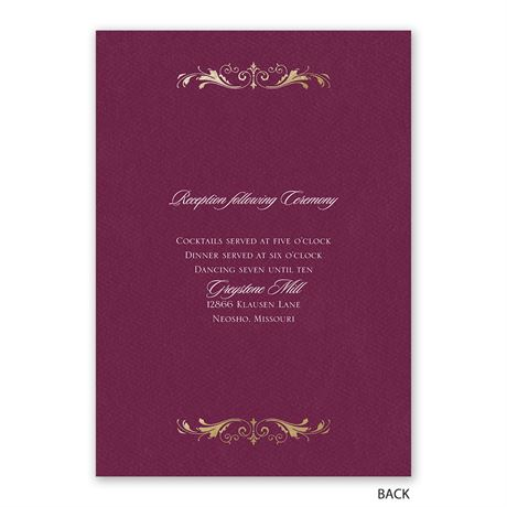 Royal Monogram - Invitation with Free Response Postcard