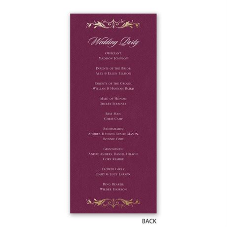 Royal Monogram - Wedding Program
