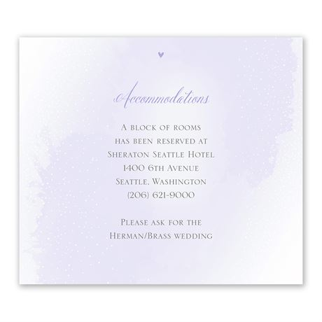 Love and Life - Information Card