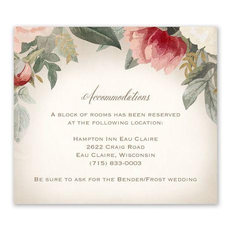 Blush Floral - Information Card
