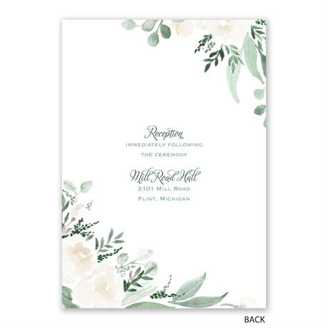 Painted Garden - Invitation with Free Response Postcard