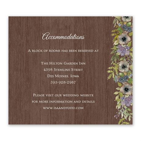Floral Garland Information Card