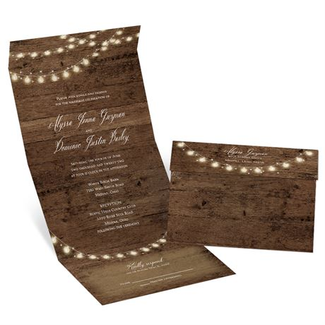 Rustic Glow - Seal and Send Invitation