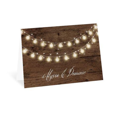 Rustic Glow - Thank You Card