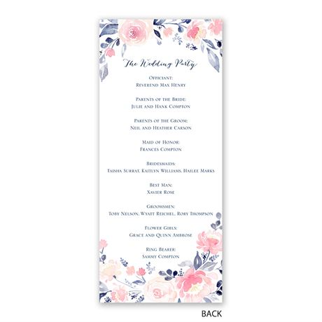 Blooms Abound - Wedding Program