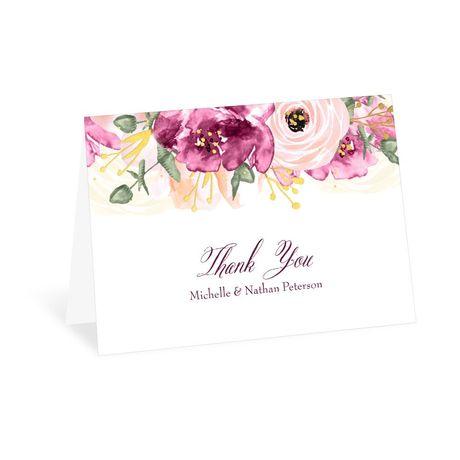 Garden Romance Thank You Card
