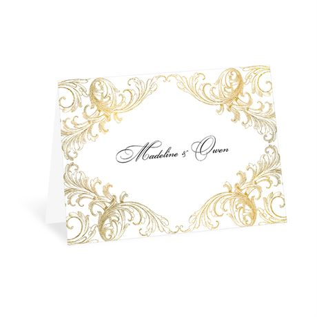 Gold Flourish Thank You Card
