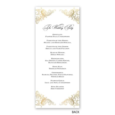 Gold Flourish - Wedding Program