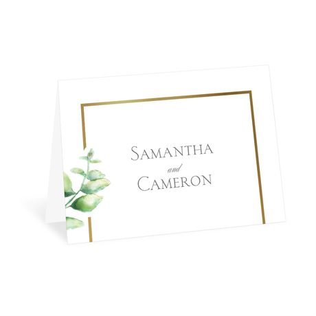 Watercolor Greenery Thank You Card