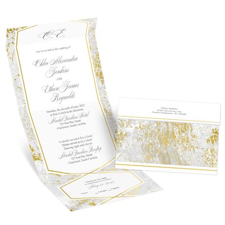 Gold Marble - Seal and Send Invitation