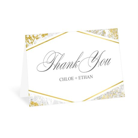 Gold Marble Thank You Card