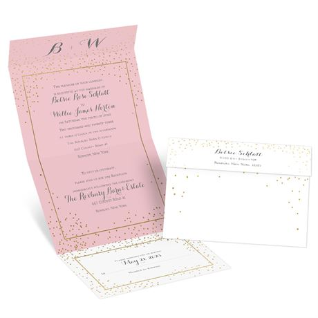 Gold Dots -  Seal and Send Invitation