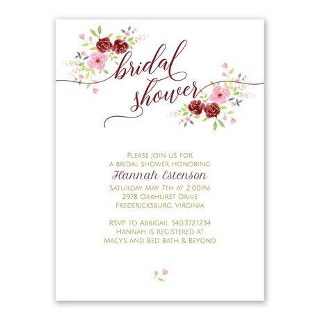 Blush Floral - Bridal Shower Invitation