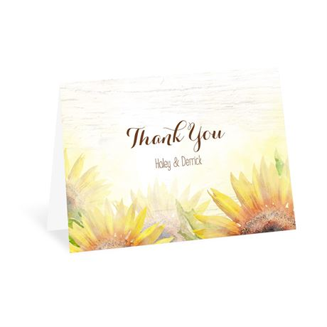 Painted Sunflowers Thank You Card