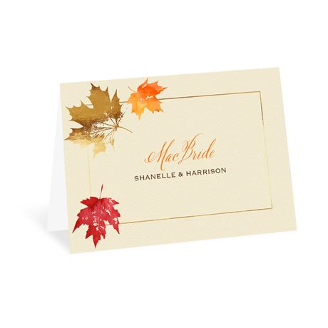 Falling Leaves - Thank You Card