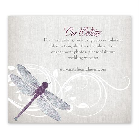 Dragonfly Pair Information Card
