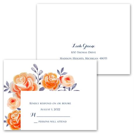 Bountiful Blooms - Invitation with Free Response Postcard