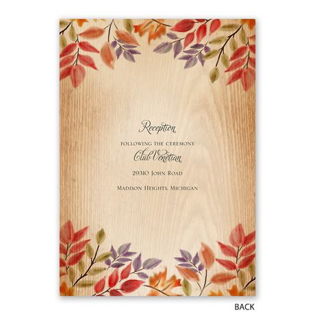 Rustic Fall - Invitation with Free Response Postcard