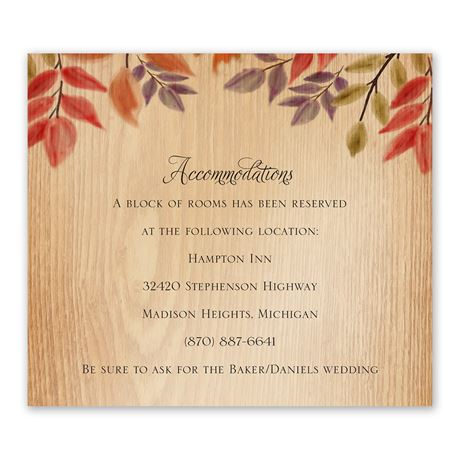 Rustic Fall Information Card