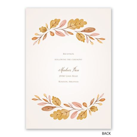 Golden Autumn - Invitation with Free Response Postcard