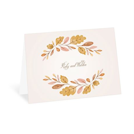 Golden Autumn Thank You Card