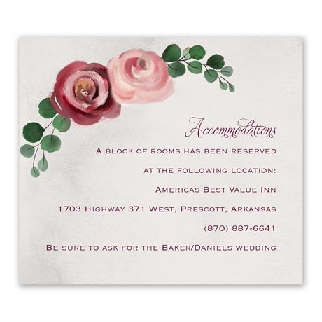 Burgundy Botanic - Information Card