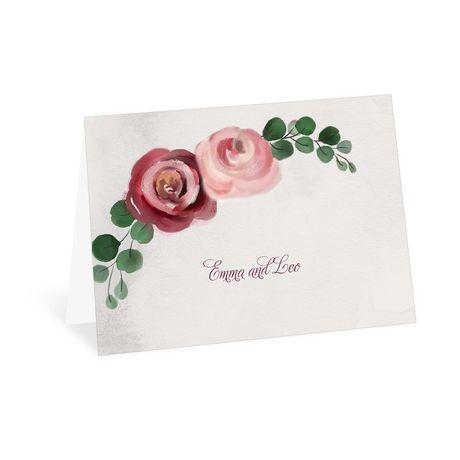 Burgundy Botanic - Thank You  Card